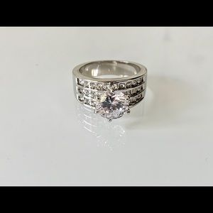 Silver-Tone Crystal Ring Size 9 Charter Club